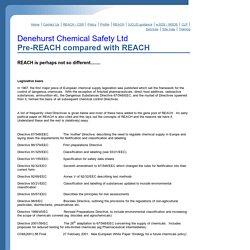 Pre-REACH compared with REACH