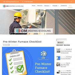 Pre-Winter Furnace Checklist