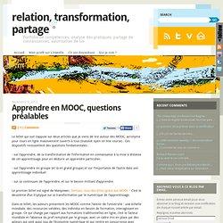 Apprendre en MOOC, questions préalables