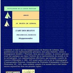 ABBAYE - LE BEATUS DE LIEBANA - L'ART DES BEATUS - PREAMBULES, EXERGUES - MAPPEMONDES