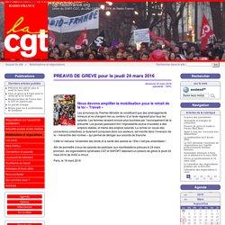 PREAVIS DE GREVE pour le jeudi 24 mars 2016 - cgt-radiofrance.org