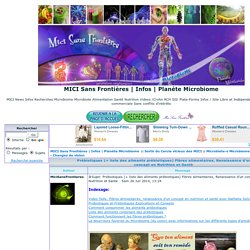 Prébiotiques (+ liste des aliments prébiotiques) Fibres alimentaires, Renaissance d'un concept en Nutrition et Santé