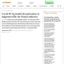 AFP 06/10/20 Covid-19: la moitié des précaires et migrants d'Île-de-France infectés