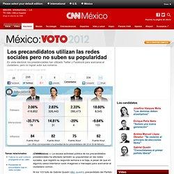 Los precandidatos utilizan las redes sociales pero no suben su popularidad - México: Voto 2012