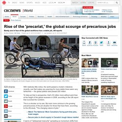 Rise of the 'precariat,' the global scourge of precarious jobs