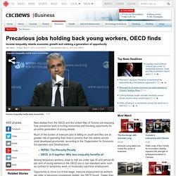 Precarious jobs holding back young workers, OECD finds