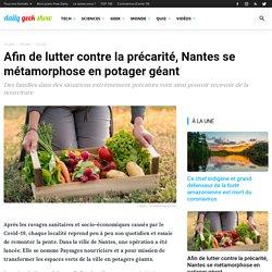 Afin de lutter contre la précarité, Nantes se métamorphose en potager géant