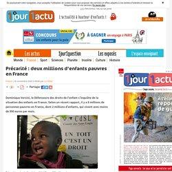 1jour1actu - Précarité : deux millions d'enfants pauvres en France