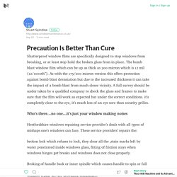 Precaution Is Better Than Cure – Medium