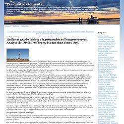 Huiles et gaz de schiste : la précaution et l'empressement. Analyse de David Desforges, avocat chez Jones Day,