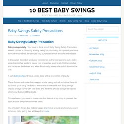 Baby Swings Safety Precautions-