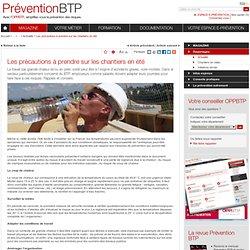 Les précautions à prendre sur les chantiers en été / Actualité / Reportages