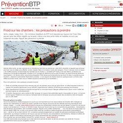 Froid sur les chantiers : les précautions à prendre / Actualité / Reportages