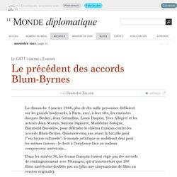 Le précédent des accords Blum-Byrnes, par Geneviève Sellier