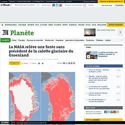 La NASA relève une fonte sans précédent de la calotte glaciaire du Groenland