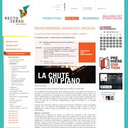 La chute du piano - Spectacles - Mois Multi 2014 - Éditions précédentes - Mois multi 2015 - Productions Recto-Verso
