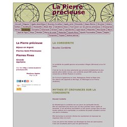 LA PIERRE PRECIEUSE - Pierres Fines:-Bordeaux-Cordierite-Gironde-Aquitaine