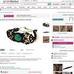 bracelet macramé : Bijoux par ppj sur Alittlemarket