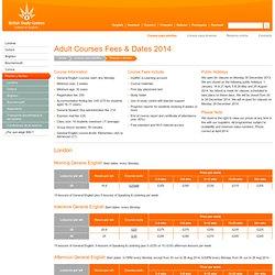 Precios y fechas de los cursos para adultos en 2013