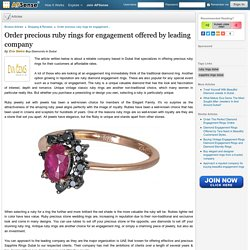 Order precious ruby rings for engagement offered by leading company by Eva Gems