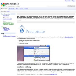 precipitate - Your cloud data at your fingertips