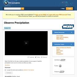 Observe Precipitation