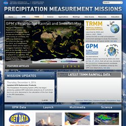 Precipitation Measurement Missions | An international partnership to understand precipitation and its impact on humankind.