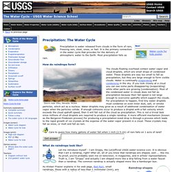 Precipitation -The Water Cycle. USGS Water Science School