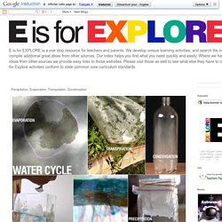 E is for Explore!: Precipitation, Evaporation, Transpiration, Condensation