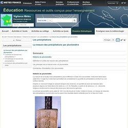 La mesure des précipitations par pluviomètre (Météo France)