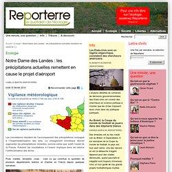 Notre Dame des Landes : les précipitations actuelles remettent en cause le projet d'aéroport