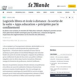 Logiciels libres et école à distance: la sortie de la suite «Apps.education» précipitée par le confinement