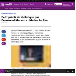 Petit précis de rhétorique par Emmanuel Macron et Marine Le Pen