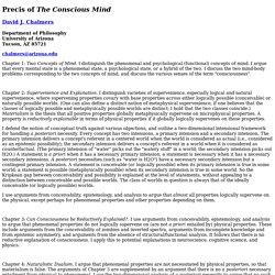 Precis of _The Conscious Mind_