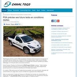 PSA précise ses futurs tests en conditions réelles