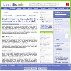 [Article de presse] Un décret précise les modalités de la saisine par voie électronique (SVE)