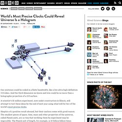 World's Most Precise Clocks Could Reveal Universe Is a Hologram | Wired Science