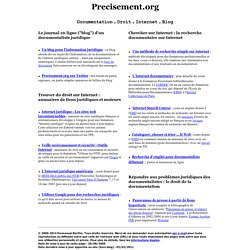 Precisement.org - Documentation. Droit. Internet. Blog