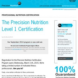 The Precision Nutrition Level 1 Certification