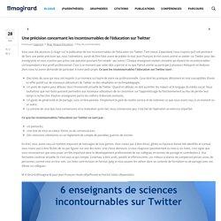 Comptes incontournables sur Twitter