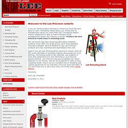 Lee Precision, Inc. Reloading Tools and Equipment