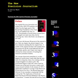 The New  Precision Journalism - Preface