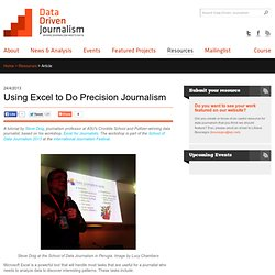 Using Excel to Do Precision Journalism