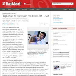 In pursuit of precision medicine for PTSD