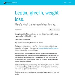 Research Review: Leptin, ghrelin, weight loss – it's complicated