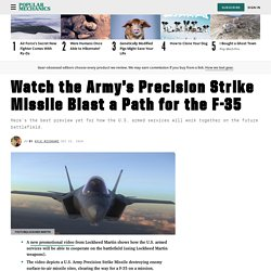 Army's Precision Strike Missile: Watch PrSM Blast Path for F-35