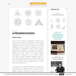 La precisione in filosofia - IMPRESSIONS - Rivista digitale di critica della cultura