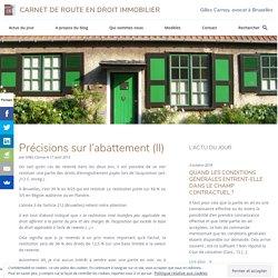 Précisions sur l'abattement (II) - Carnet de route en droit immobilier