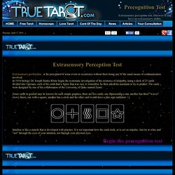 Extrasensory perception test