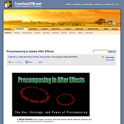 Precomposing in Adobe After Effects